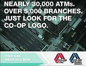 CO-OP Network - shared branch and ATM locations,